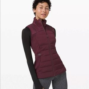 Lululemon Down For It All Vest Outerwear Maroon 0